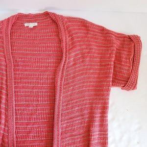 UO Silence + Noise Striped Crochet Cardigan S